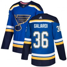T.J. Galiardi St. Louis Blues Adidas Youth Authentic Home Jersey - Blue